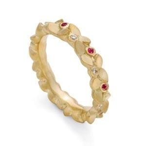 Colour gems garland ring