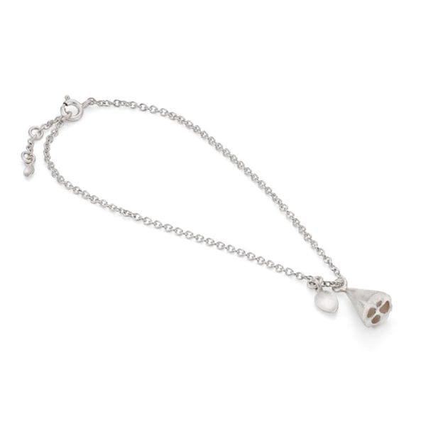 lotus bracelet silver new
