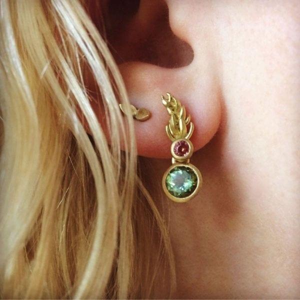 heather earing double gem