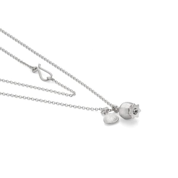 Poppy mini pendant silver flat